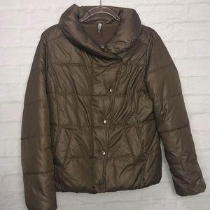 Old Navy Brown Fleece Lined Winter Coat